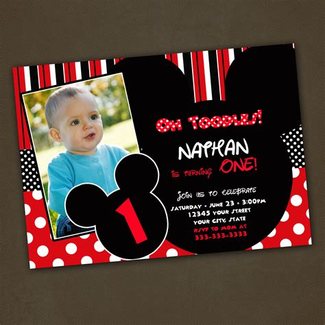 Handmade Mickey Mouse Birthday Invitations - mickey mouse birthday invitations custom for by