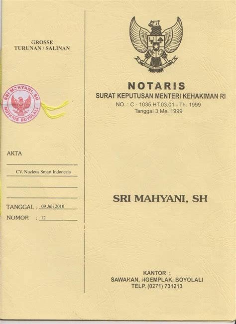 pendirian yayasan pdf contoh dokumen legal aspek pendiri perusahaan rio santoso