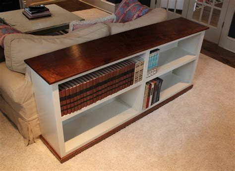 Build A Sofa Table Bookcase Complete Design Plans Sofa Table Bookcase