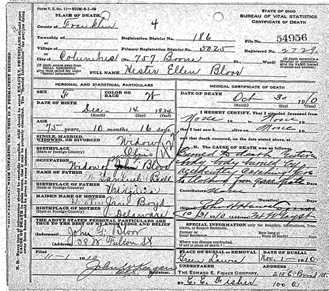 Columbus Ohio Birth Records Birth Certificates Columbus Ohio Image Collections Birth Certificate Design
