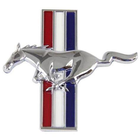mustang running pony fender emblem badge driver s side lh