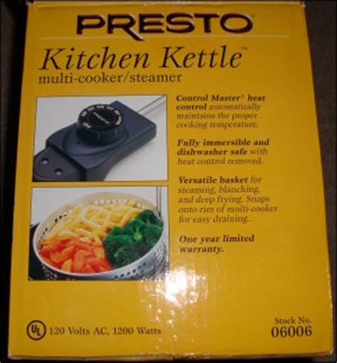 Presto Kitchen Kettle Rice Pot Review In Truck Use Of The Presto Kitchen Kettle