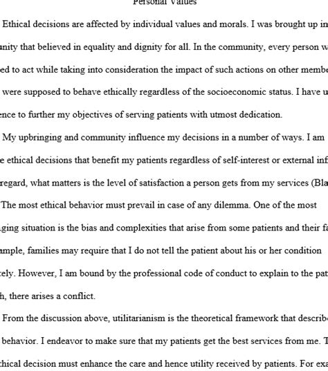 Personal Values Essay by How Do Personal Values Morals And Ethics Influence Decision Regent Essays