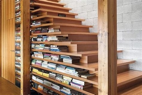 staircase bookshelves home design ideas