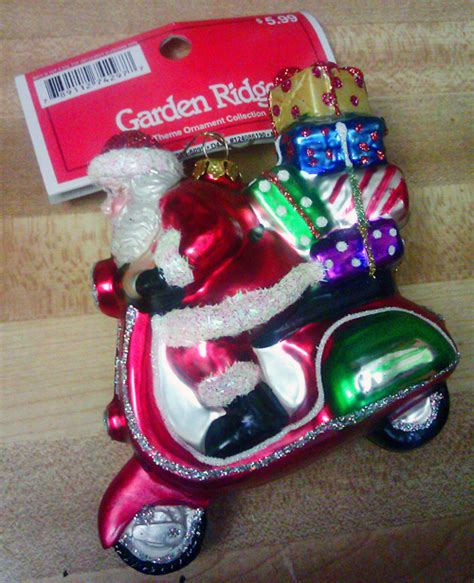 Garden Ridge Up Santa Ornament Scooter Swag