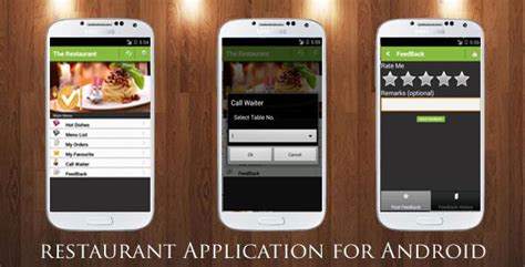 application cuisine android restaurant order mobile app android ios by
