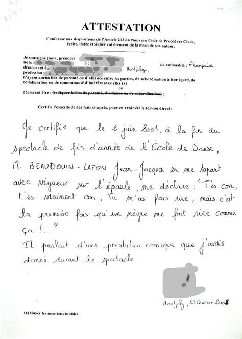 Exemple De Lettre Famille Modele Attestation Bon Pere De Famille Document