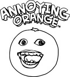 free the annoying orange coloring page wecoloringpage