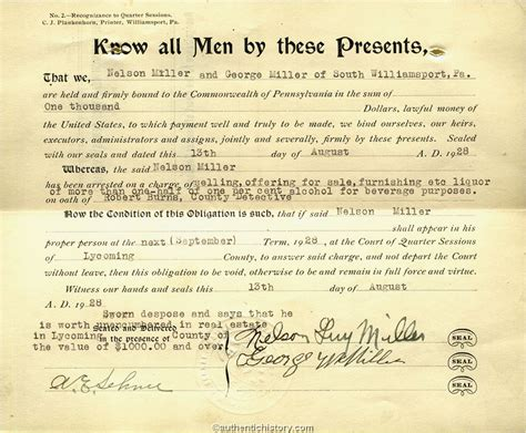 Pennsylvania Search Warrant An Overview Of The Prohibition Era 1919 1933