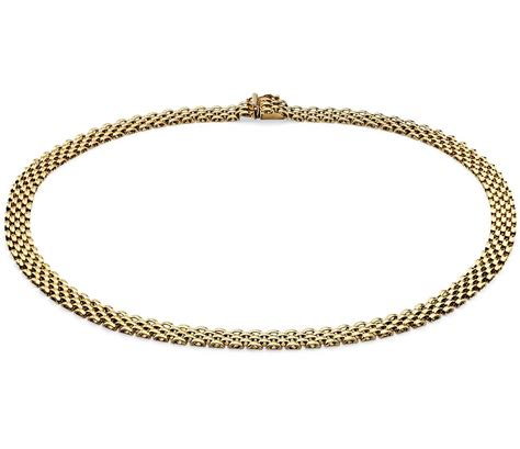 panther necklace in 14k yellow gold blue nile