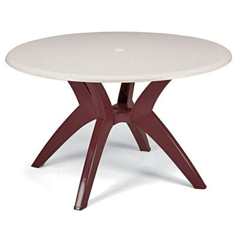 grosfillex 99881004 molded melamine table top 42