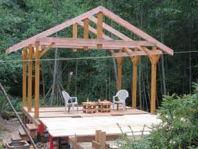 Roof Deck Plan Foundation 14 X 14 Post Amp Beam W Scribed Log Infill Houses
