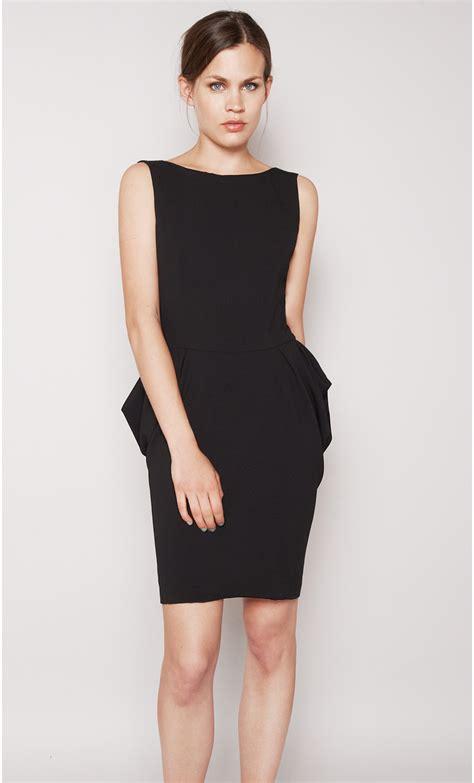 Short Draped Crepe Dress Mondefile Com