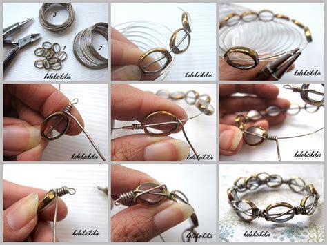 membuat gelang wire membuat gelang lilit dr kawat alumunium koleksikikie