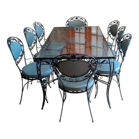 wrought iron dining room sets wrought iron and glass dining room set chairish