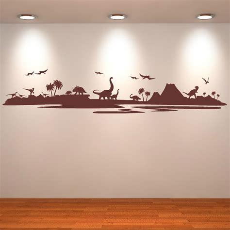 Dinosaur Landscape Assorted Dinosaurs Vinyl Wall Art Garden Wall Decal