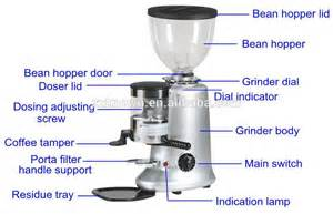 Parts Of A Coffee Grinder 1 2kg Bean Hopper Capacity Coffee Grinder Coffee