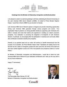 Reference Letter Sle Canada Jason Kenney Canadian Minister Of Citizenship Immigration And Multiculturalism In Recognition
