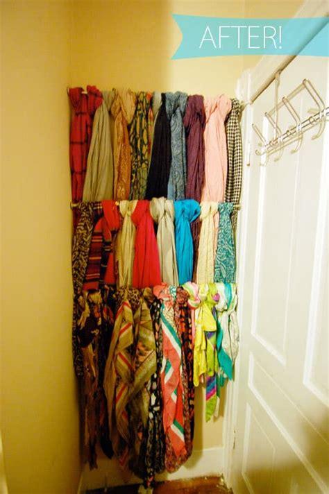 15 simple ways to organize scarves