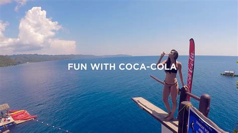 in the summer taste the feeling of summer with coca cola