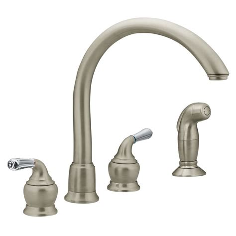 moen double handle kitchen faucet repair moen 7786 chrome kitchen faucet build com