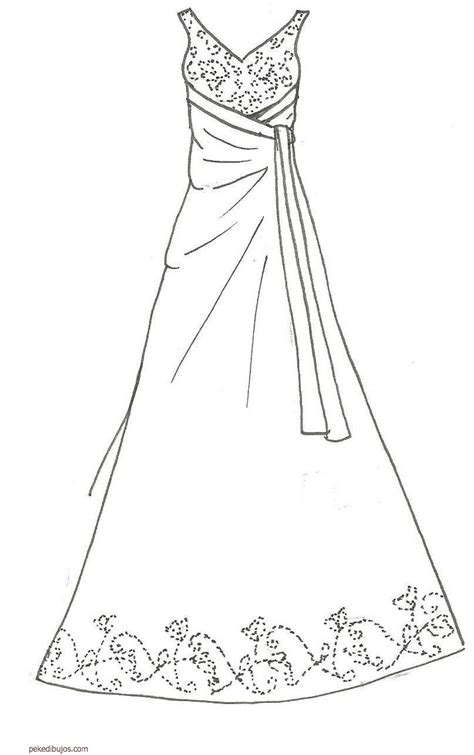 fashion wedding dresses coloring coloring pages