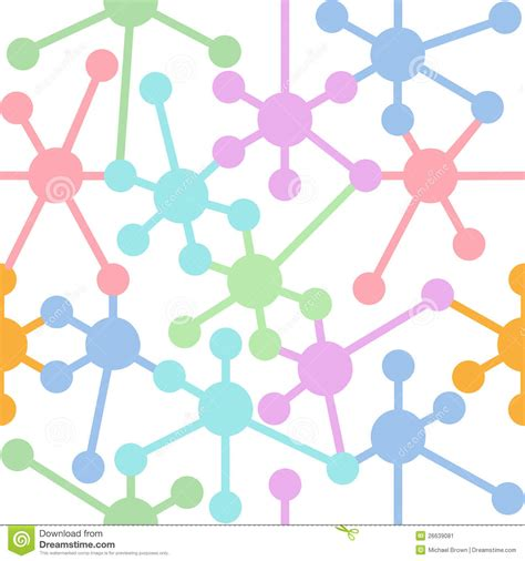 design pattern network network connection nodes seamless pattern stock image