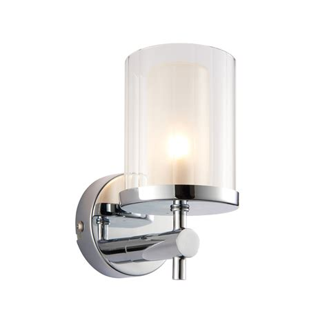 Bathroom Lighting With Outlet Britton 1 Light Chrome Bathroom Wall Light Designer Lighting Outlet
