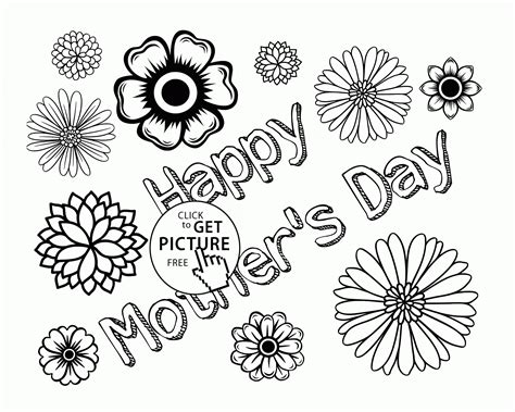 flowers for mothers day flowers card for mother s day coloring page for kids
