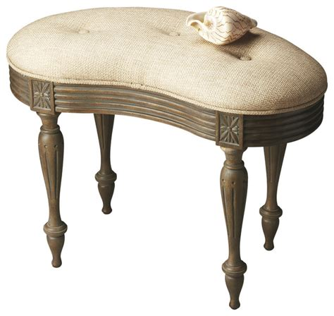Bathroom Vanity Bench Stool Butler Vanity Stool Traditional Vanity Stools And