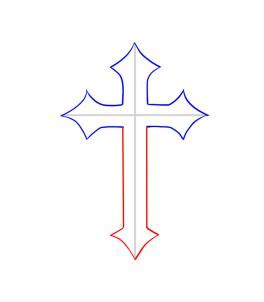 simple cross drawings clipart free download clipart