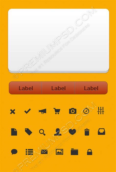 design labels app orange ui kit for apps premium psd