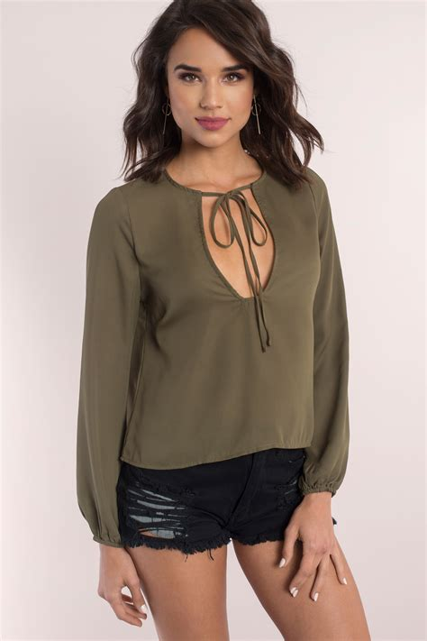 Olive Blouse Wd 1 olive blouse green blouse sleeve blouse 15 00