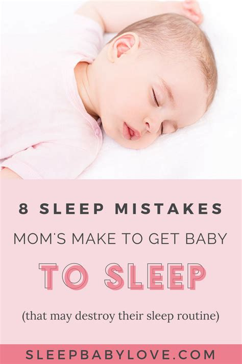 8 Mistakes Make When by 8 Sleep Mistakes Make To Get Overtired Baby To Sleep