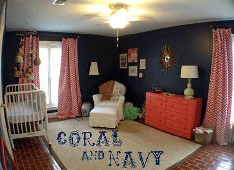 Coral And Navy Nursery by 17 Best Ideas About Coral Navy Nursery On Pinterest Navy