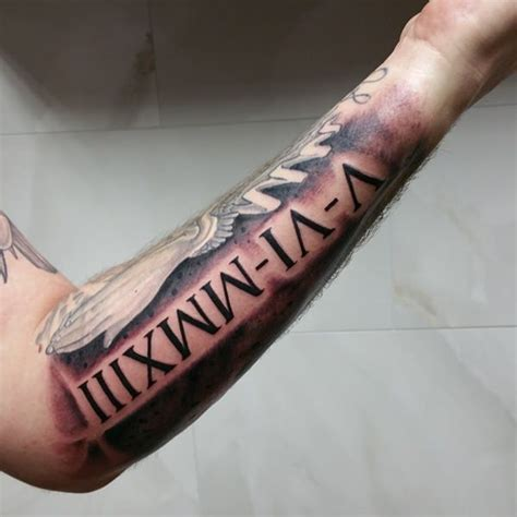 roman numeral forearm tattoo 70 numeral tattoos ink will drool