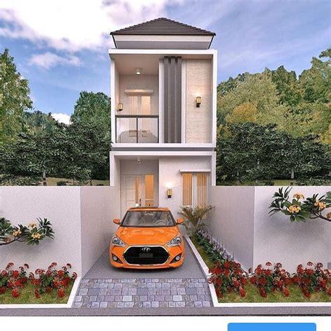 desain rumah lantai   lebar  meter berserta