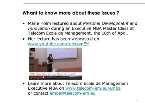 Mba Telecom Management by Holm On Innovative Mindsets How To Enhance Innovation