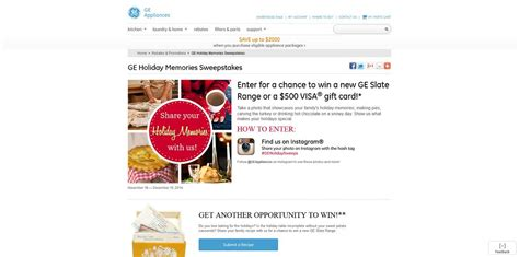 Appliance Sweepstakes 2014 - ge holiday memories sweepstakes win a new ge slate range