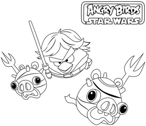 free coloring pages star wars angry birds free cartoon angry birds star wars coloring pages 29801
