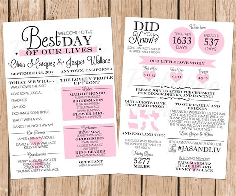 wedding invitations program infographic wedding program wedding program