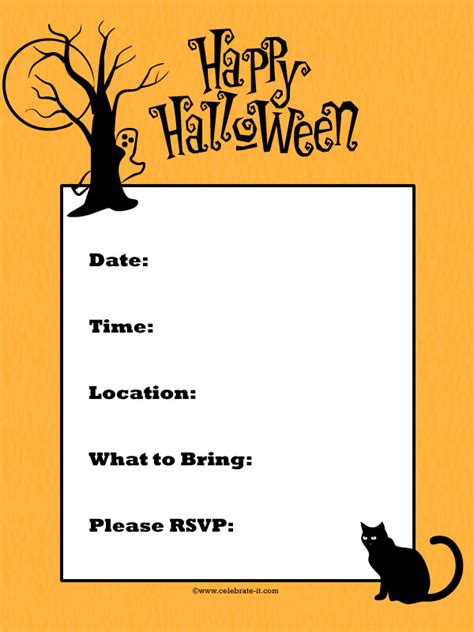 printable halloween invitations free halloween party invitation printables for kids