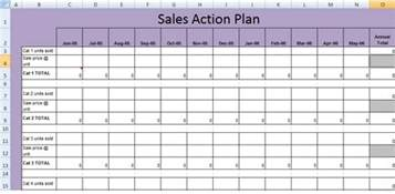 sales call plan template free get sales plan template xls free excel