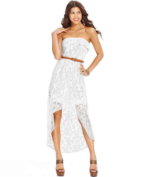 Dress Sisilia Hs 1173 trixxi trixxi juniors lace ruffled high low dress