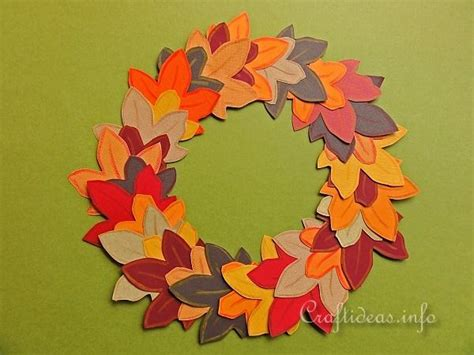 fall paper craft ideas wreath template for search results calendar 2015