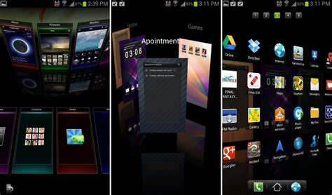 home themes for android best 3d homescreen launchers for android