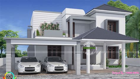 housing design simple and elegant modern house kerala home design and