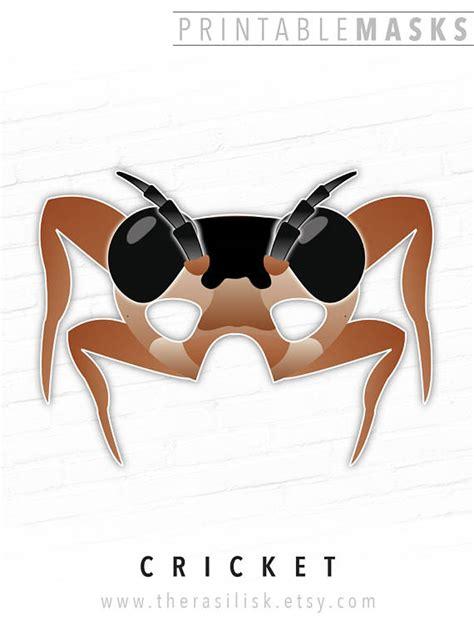 printable grasshopper mask cricket mask brown grasshopper printable mask bug mask bull