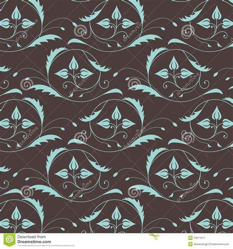 pattern blue brown seamless vintage pattern in blue brown colors royalty free