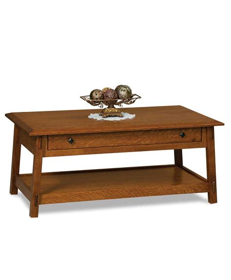 colbran open coffee table with drawer amish direct furniture